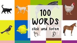 100的第一句话 儿童游戏 学习英语 学习 英语 英语游戏 英语单词 本书动物屏幕截图1