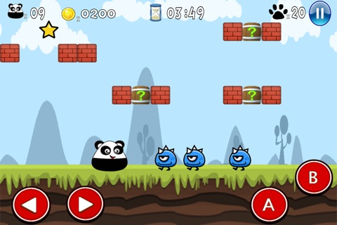 Super Pou Panda - Kung Fu Kick screenshot 1