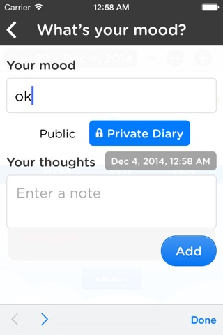 Moodtrack Diary: Private Mood Tracker & Mood Tracking Journal screenshot 3