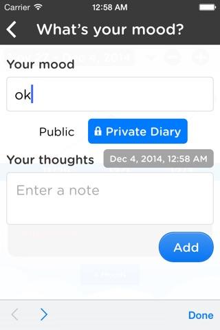 Moodtrack Diary: Private Mood Tracker & Mood Tracking Journal screenshot 3