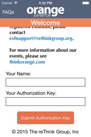 Orange Exhibitor screenshot 1