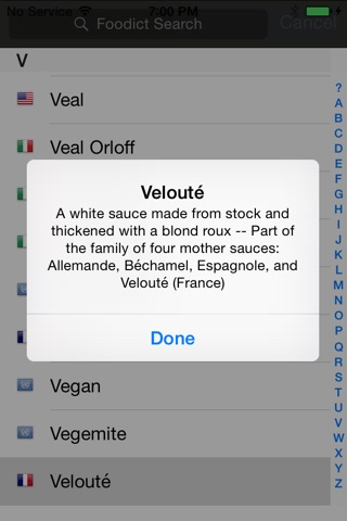 Foodict Gourmet Food Dictionary screenshot 1