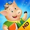 The three little pigs - preschool & kindergarten fairy tales book for kids HD