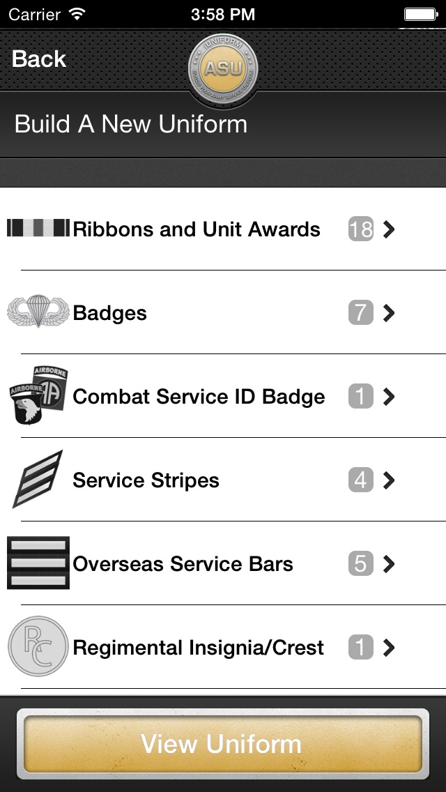 Uniform dating iphone app