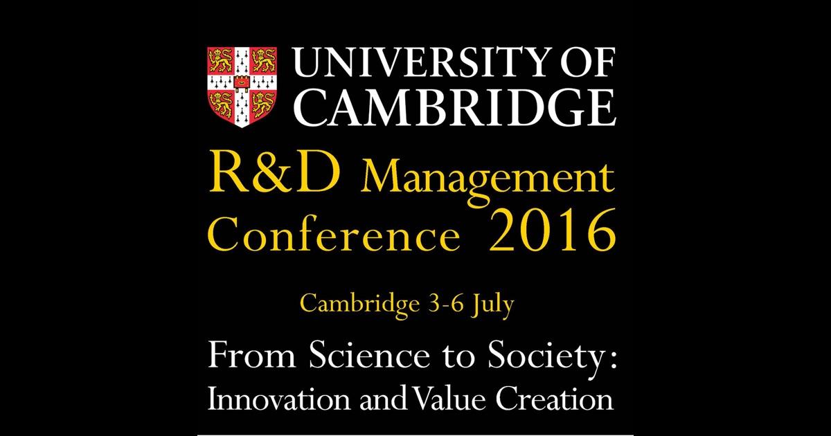 """Résultat de recherche d'images pour """"R&D management conference"""""""