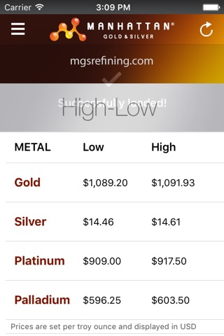 Precious Metal Prices screenshot 2
