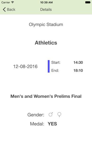 Brasile 2016 Calendario Olimpico Giochi di Rio de Janeiro e Countdown Screenshot