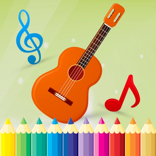 Music Coloring Book - Drawing and Painting Musical Instrument Game HD iOS App