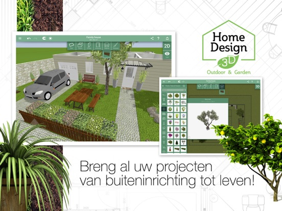 Home design 3d outdoor and garden app voor iphone ipad for Home architecture and design app