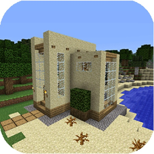 House Detail for Minecraft Pocket Edition - Step-by-Step Blueprints iOS App
