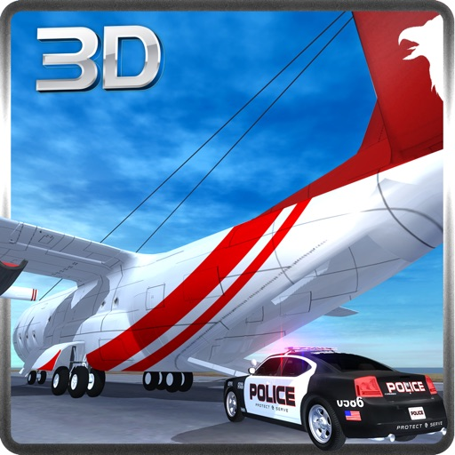 Police Car Transporter Plane - Chase the Criminals & Prisoners Now! iOS App
