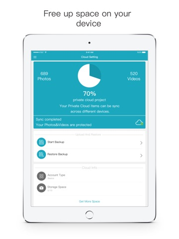 Screenshots of Secret Safe Calculator Vault - Hide and Lock Private Photo & Video for iPad