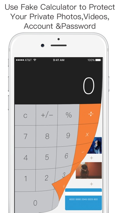 Screenshots of Secret Safe Calculator Vault - Hide and Lock Private Photo & Video for iPhone