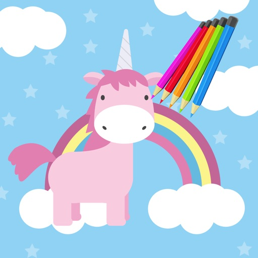 Kids Coloring Book Unicorn  - Educational Learning Games For Kids And Toddler iOS App