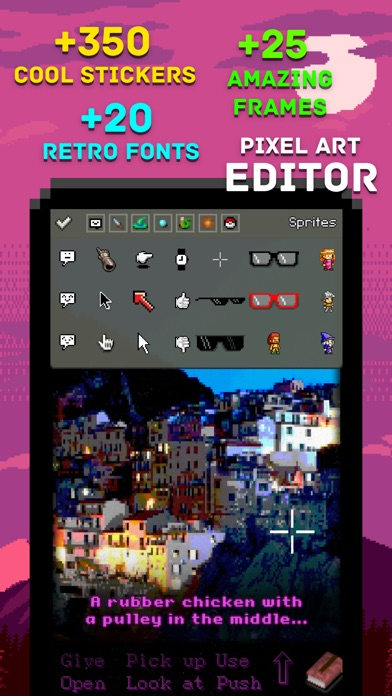 Famicam 64 8bit Retro Camera with Live Effects, Pixel Art Editor, Meme Text and Cool Stickers Screenshot