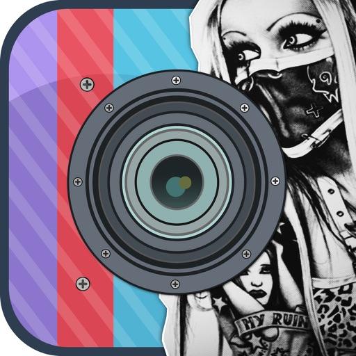 Insta Tattoo Maker - Hottest Tattoos  & Custom Skin Art Designs Camera iOS App