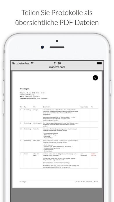 Screenshot von MinuteTaker - Protokolle2