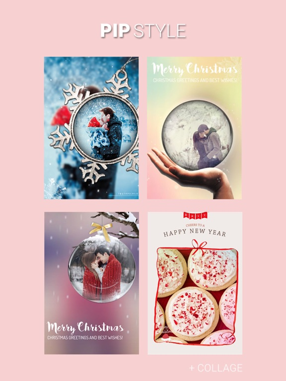 Screenshots of Christmas PIP Photo Collage for iPad
