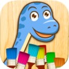 恐龙动物侏罗纪公园儿童画画游戏 – 3到6岁宝宝益智软件
