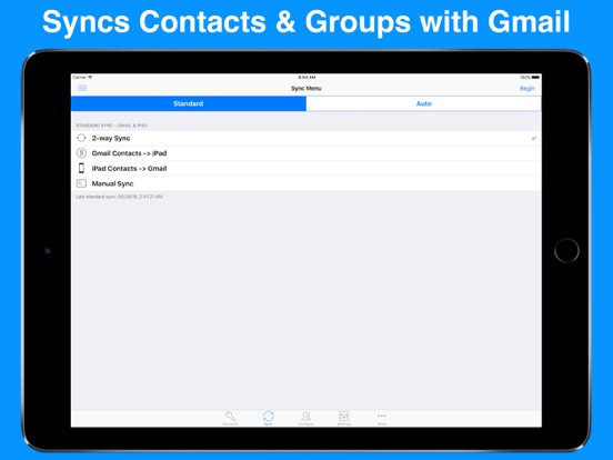 Contacts Sync for Google Gmail Screenshots