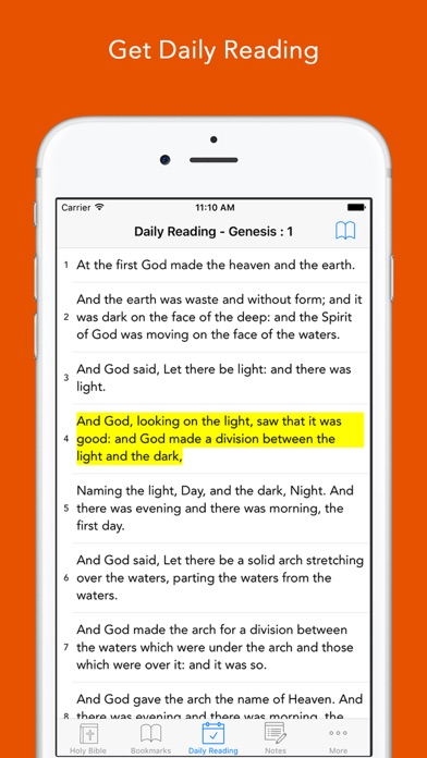 download Daily Bible: Easy to read, Simple, offline, free Bible Book in English for daily bible inspirational readings apps 4