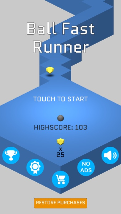 Мяч Быстрый бегун - Сбор Джем на маршруте Screenshot