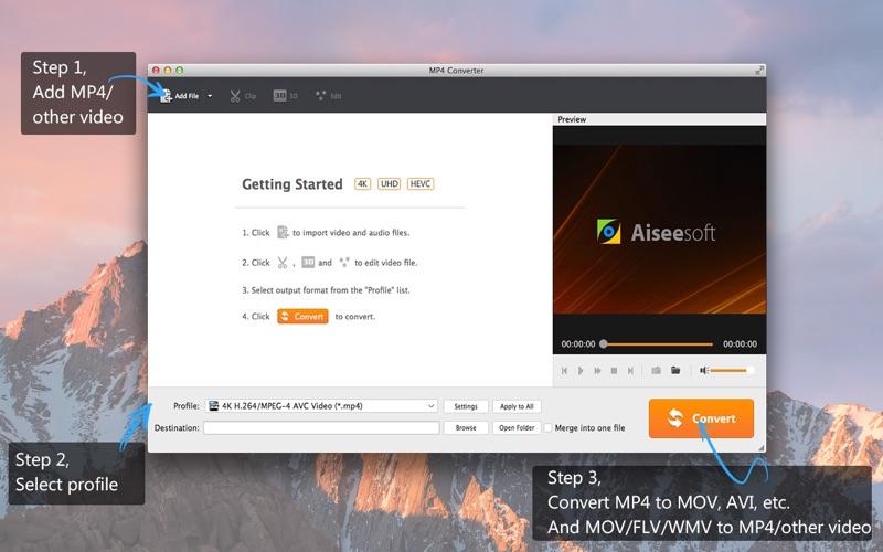 Screenshot #1 for Aiseesoft MP4 Converter