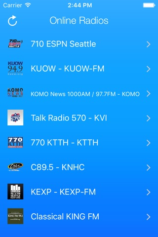 Seattle Radio Stations screenshot 1