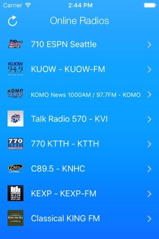 Seattle Radio Stations screenshot 1