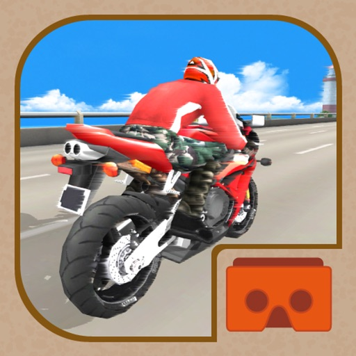 VR SUPER BIKE RACERS 3D for Cardboard Virtual Reality Viewer Glasses iOS App