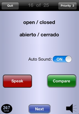 Spanish Vocabulary 24/7 Language Learning screenshot 2