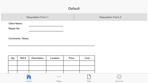 Requisition Form - Appaddict