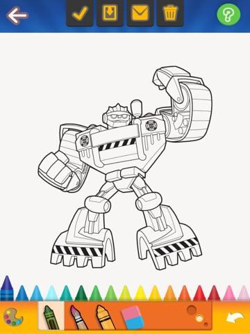 ipad screenshot 3 - Rescue Bots Coloring Book