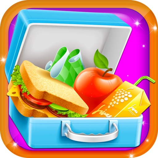 Lunch box Maker - Add your favourite food i.e Candies, Sandwich, Burger, cookies and much more iOS App