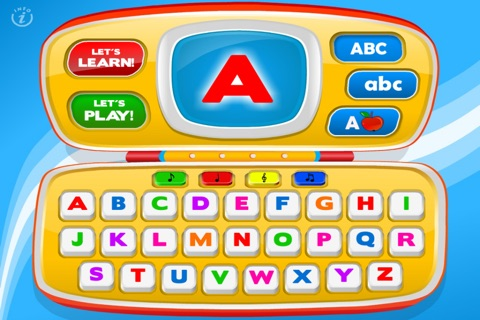 Letters Laptop A to Z · TeachMe Alphabet, ABC Letter Quiz and Letter Recognition, Flash Cards and Spelling Activities - Learning Reading School Games for Kids: Toddler, Preschool, Kindergarten by Abby Monkey® screenshot 1