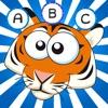 ABC Savannah! Gioco per bambini: Imparare di scrivere le parole e l'alfabeto con gli animali del safari, deserto e la giungla. Con leoni, elefanti, ippopotami, pappagallo, zebra, tigre, coccodrillo, serpente, scimmia, cammello, giraffa