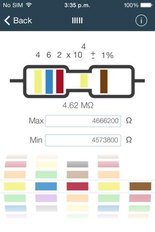 ResistorColor Plus screenshot 3