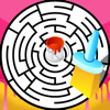 A Labyrinth Coloring Book & Learning Game for Toddlers: Cool Castle Maze