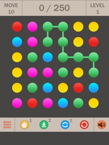 Collect Points Line ~ Логическая игра головоломка для iPad