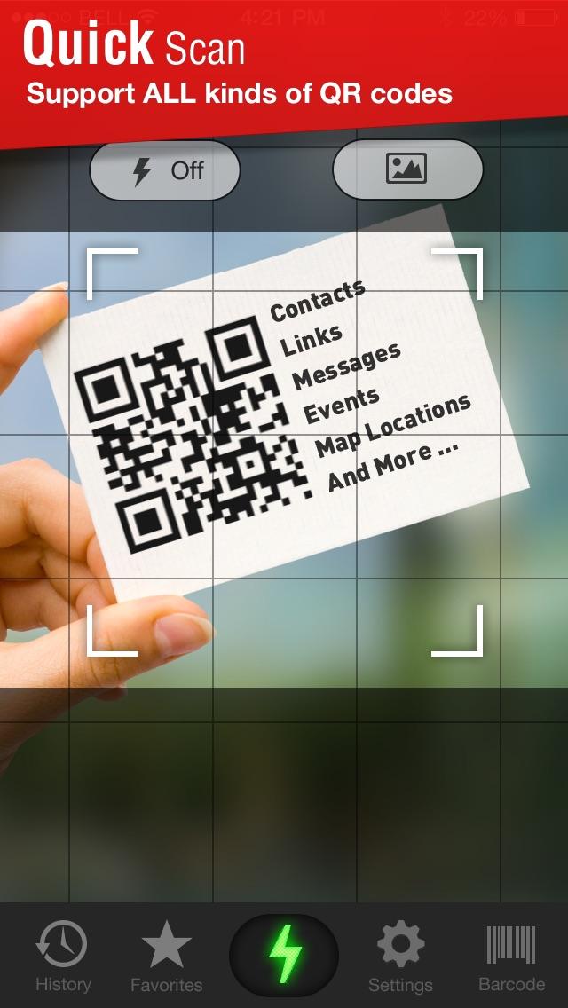 Quick Scan - QR Code Reader Screenshot 1