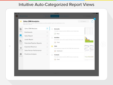 Zoho Reports Mobile BI screenshot 2