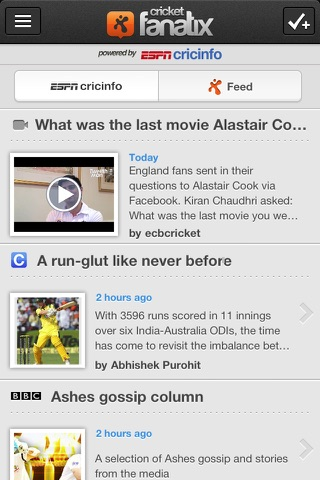 fanatix cricket - Powered by ESPNcricinfo screenshot 1