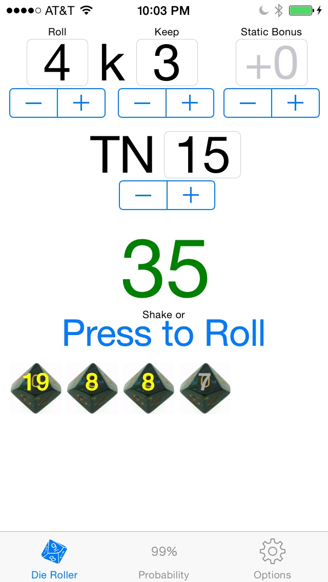 Roll and Keep Helper screenshot1
