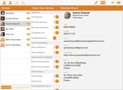 VCard Sender Professional screenshot 1