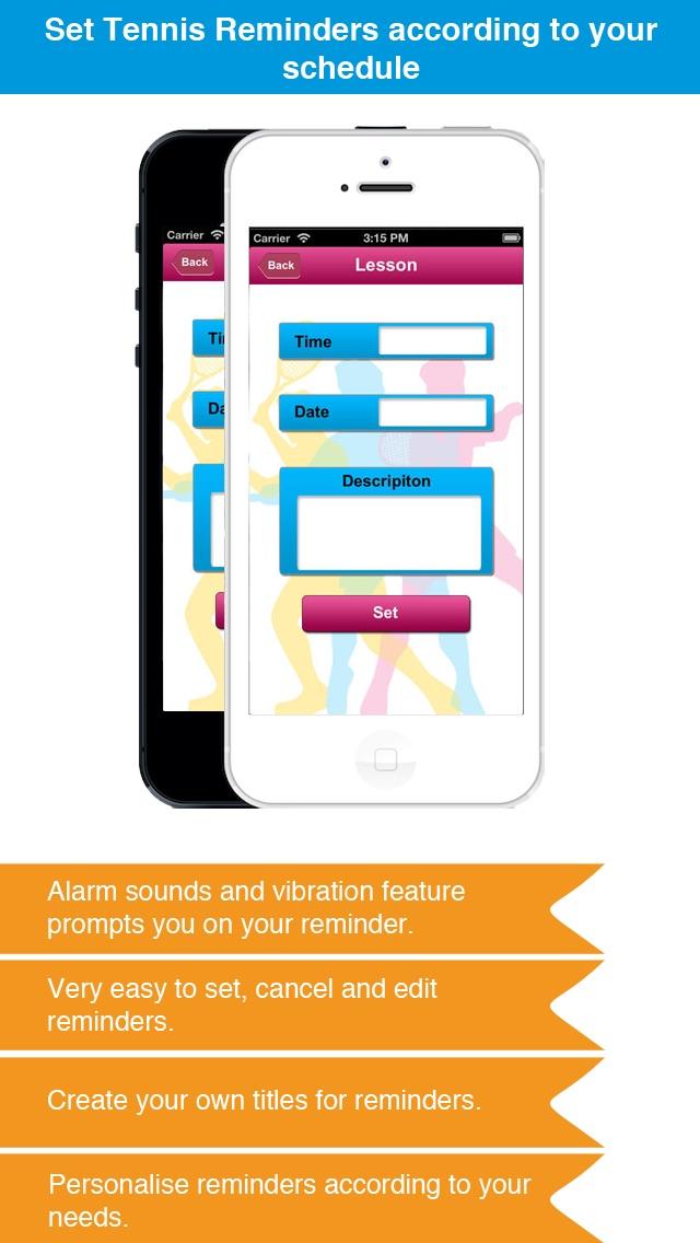 Теннис напоминание App - Расписание активности Расписание Напоминания-СпортСкриншоты 4