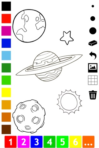 An Outer Space Coloring Book for Children: Learn to color astronaut, alien and ufo screenshot 4