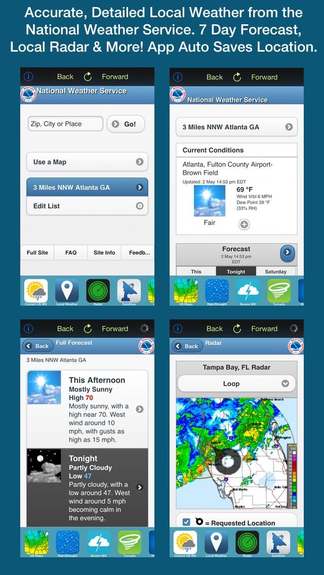 Screenshot #3 for US Weather Tracker Free - Weather Maps, Radar, Severe & Tornado Outlook & NOAA Forecast