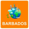 Barbados Off Vector Map - Vector World