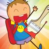 Malbuch Für Kinder in der Schule - Aus-Malen Lernen