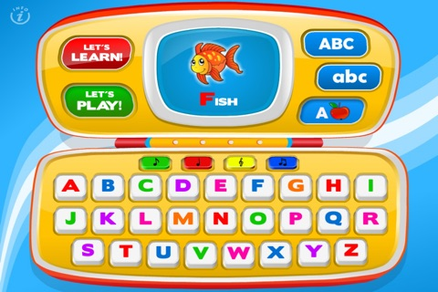 Letters Laptop A to Z · TeachMe Alphabet, ABC Letter Quiz and Letter Recognition, Flash Cards and Spelling Activities - Learning Reading School Games for Kids: Toddler, Preschool, Kindergarten by Abby Monkey® screenshot 2